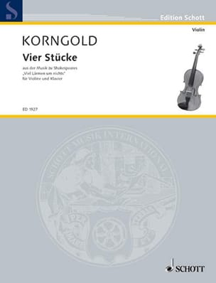 Erich Wolfgang Korngold - 4 Stücke - Partition - di-arezzo.fr