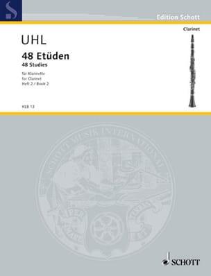 48 Etüden Volume 2 - Alfred Uhl - Partition - laflutedepan.com