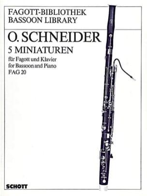 5 Miniaturen - Otto Schneider - Partition - Basson - laflutedepan.com