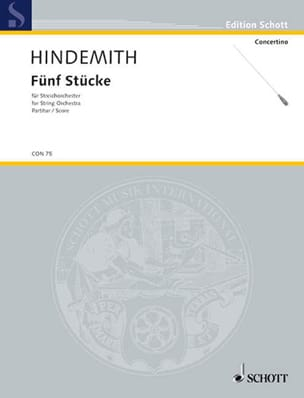 Paul Hindemith - 5 Stücke für Streichorchester - Partitur - Sheet Music - di-arezzo.com