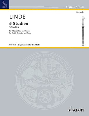 Hans-Martin Linde - 5 Studien für Altblockflote und Klavier - Sheet Music - di-arezzo.com