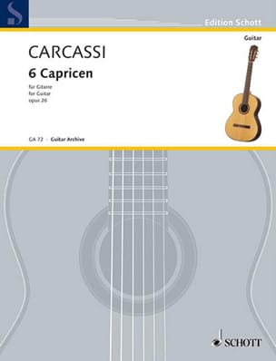 Matteo Carcassi - 6 Capricen op. 26 - Partition - di-arezzo.fr