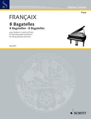 8 Bagatelles – Partitur + Stimmen - Jean Françaix - laflutedepan.com