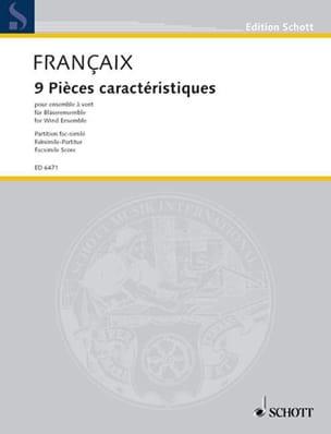 9 Pièces caractéristiques – Score - Jean Françaix - laflutedepan.com