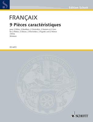 Jean Françaix - 9 Pièces Caractéristiques - Parties - Partition - di-arezzo.fr