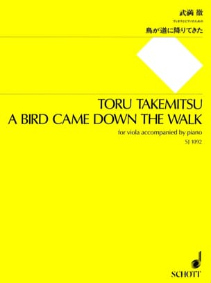Toru Takemitsu - A Bird came down the walk - Partition - di-arezzo.fr