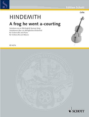 Paul Hindemith - A frog he went a-courting - Partition - di-arezzo.fr