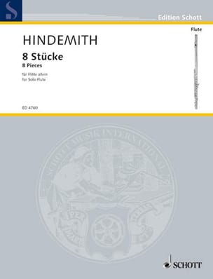 Paul Hindemith - 8 pieces for solo flute - Partition - di-arezzo.co.uk