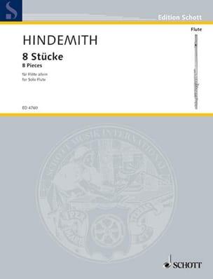 Paul Hindemith - 8 Pièces pour flûte solo - Partition - di-arezzo.fr