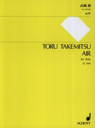 Toru Takemitsu - Air - Solo flute - Sheet Music - di-arezzo.co.uk