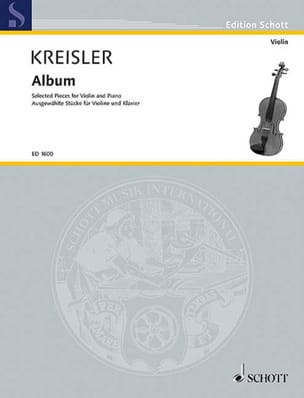 Album KREISLER Partition Violon - laflutedepan