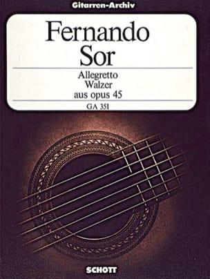 Allegretto und Walzer (aus op. 45) - Fernando Sor - laflutedepan.com