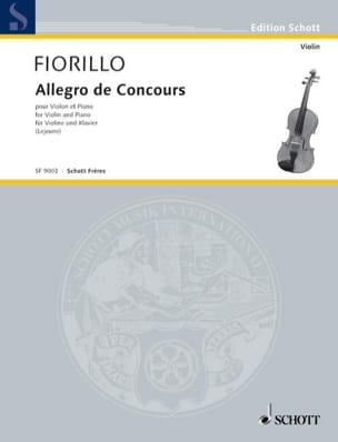 Allegro de Concours Frederigo Fiorillo Partition Violon - laflutedepan