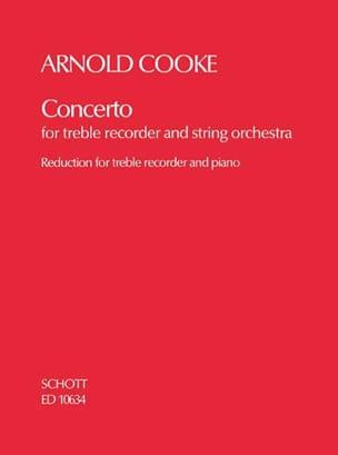 Concerto for Treble Recorder - Arnold Cooke - laflutedepan.com