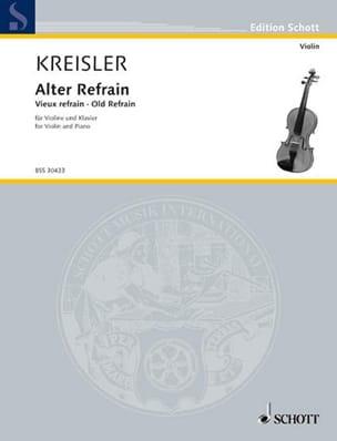 Alter Refrain - Fritz Kreisler - Partition - Violon - laflutedepan.com