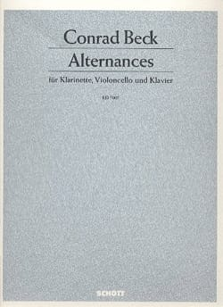 Alternances - Conrad Beck - Partition - laflutedepan.com