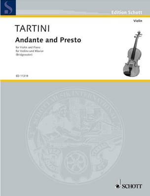 Andante and Presto TARTINI Partition Violon - laflutedepan