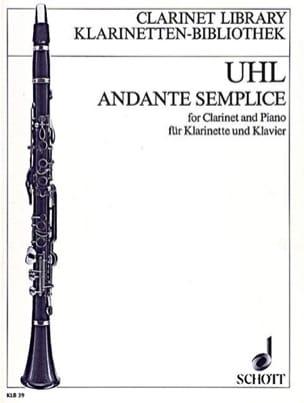 Andante semplice - Alfred Uhl - Partition - laflutedepan.com