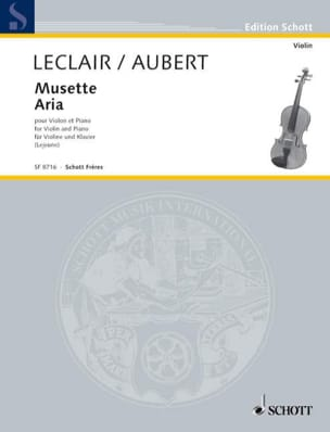 Leclair Jean-Marie / Aubert Jacques - Musette / Aria - Partition - di-arezzo.fr