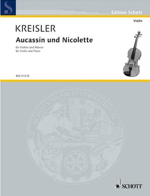 Fritz Kreisler - Aucassin and Nicolette - Sheet Music - di-arezzo.co.uk