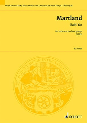 Babi Yar – Partitur - Steve Martland - Partition - laflutedepan.com