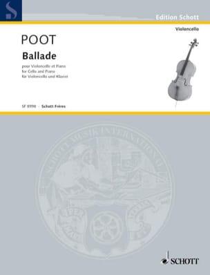 Ballade - M Poot - Partition - laflutedepan.com