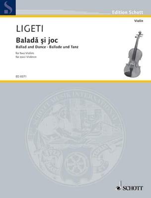 György Ligeti - Balada si joc - Partition - di-arezzo.fr