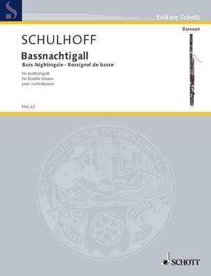 Erwin Schulhoff - Bassnachtigall - Kontrafagott - Sheet Music - di-arezzo.co.uk