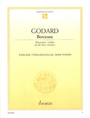 Benjamin Godard - Lullaby - Violin or Cello - Sheet Music - di-arezzo.co.uk