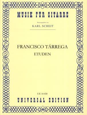 Francisco Tarrega - Etudes - Partition - di-arezzo.fr