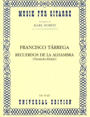 Francisco Tarrega - Recuerdos of the Alhambra - Sheet Music - di-arezzo.com