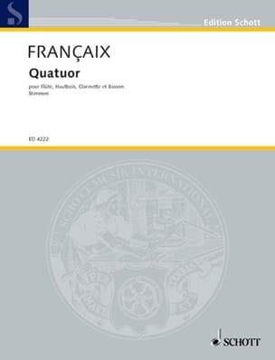 Quatuor à vent 1933 - Stimmen - Jean Françaix - laflutedepan.com