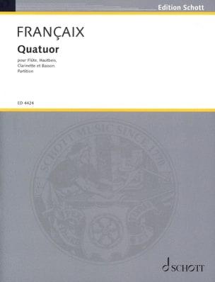 Jean Françaix - Wind Quartet 1933 - Score - Sheet Music - di-arezzo.com