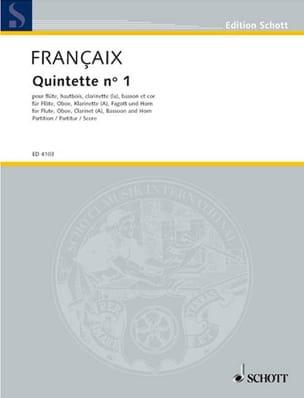 Jean Françaix - Quintette N°1 (1948) – Score - Partition - di-arezzo.fr