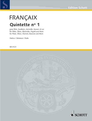 Jean Françaix - Quintet N ° 1 1948 - Parts - Sheet Music - di-arezzo.co.uk
