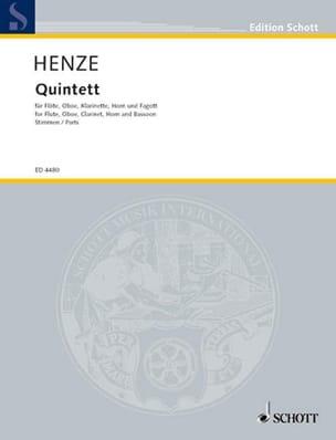 Quintett (1952) –Stimmen - Hans Werner Henze - laflutedepan.com