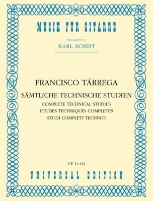 Sämtliche Technische Studien TARREGA Partition Guitare - laflutedepan