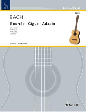 Bourree A-Dur/Gigue/Adagio - BACH - Partition - laflutedepan.com