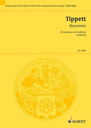 Byzantium -Score - Michael Tippett - Partition - laflutedepan.com