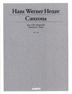 Canzona –7 Strumenti - Stimmen - Hans Werner Henze - laflutedepan.com