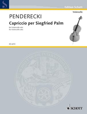 Krzysztof Penderecki - Capriccio per Siegfried Palm - Solo Cello - Partitura - di-arezzo.it
