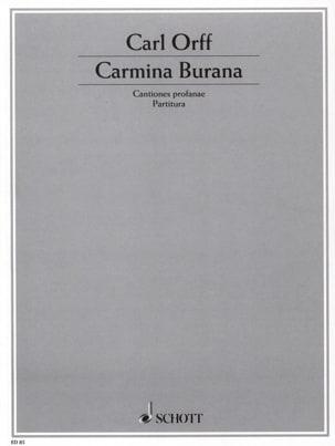 Carmina Burana ORFF Partition Grand format - laflutedepan