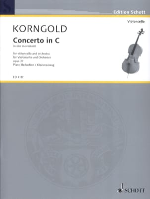 KORNGOLD - Cello Concerto, C Major Op. 37 - Sheet Music - di-arezzo.co.uk