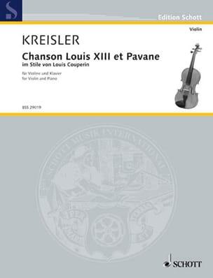 Chanson Louis XIII et Pavane - Fritz Kreisler - laflutedepan.com