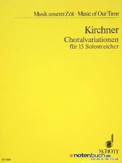 Volker David Kirchner - Choralvariationen - 15 Solostreicher - Partitur - Partitura - di-arezzo.es