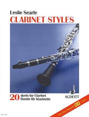 Clarinet Styles + K7 - Leslie Searle - Partition - laflutedepan.com