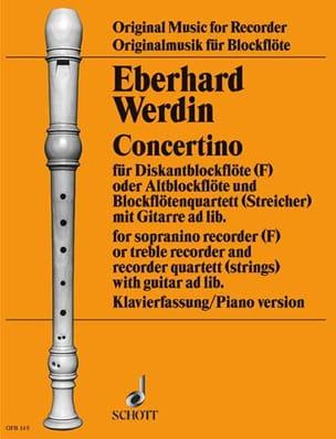 Eberhard Werdin - Concertino - sopranino recorder - Sheet Music - di-arezzo.co.uk