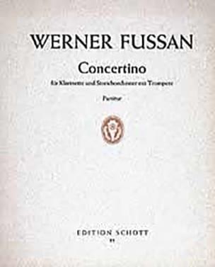 Concertino - Klarinette Streichorch. - Partitur - laflutedepan.com
