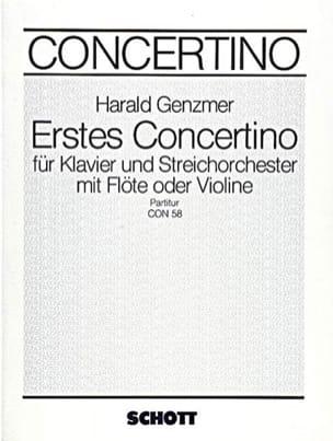 Concertino Nr. 1 - Partitur - Harald Genzmer - laflutedepan.com