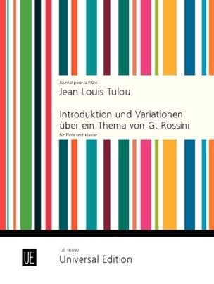 Jean-Louis Tulou - Introduktion und Variationen über ein Thema von Rossini op. 55 - Partition - di-arezzo.fr